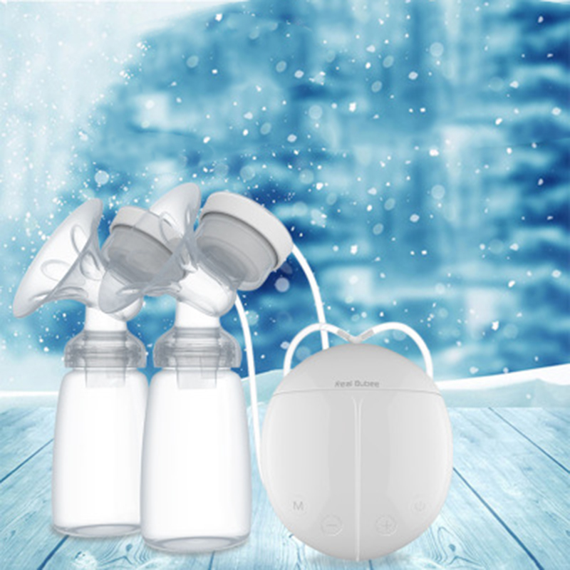 Baby Double Electric Breast Pump Kids Powerful Nipple Suction USB Electric Feeding Breast Pumps with Milk Bottles Cold Heat Pads manual breast pump powerful baby nipple suction 150ml feeding milk bottles breasts pumps bottle sucking t0099