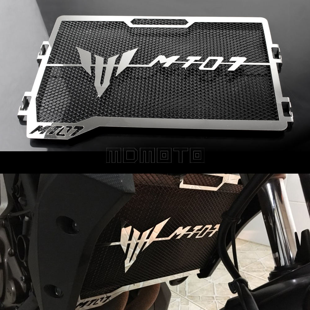 motorcycle bezel engine radiator grille guard cover protectors for yamaha mt 07 mt07 mt 07 2014. Black Bedroom Furniture Sets. Home Design Ideas