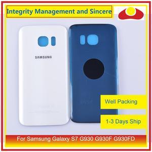 Image 3 - 50 шт./лот для Samsung Galaxy S7 G930 G930F G930FD SM G390F корпус батарейного отсека задняя стеклянная крышка корпус