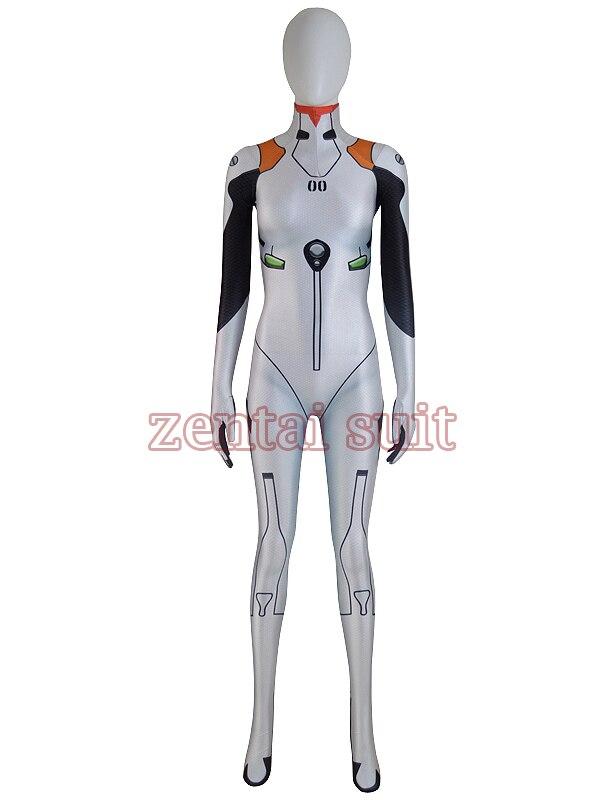 2017 Ayanami Rei костюм спандекс 3D печатных Хэллоуин концептуальные Zentai костюм Лидер продаж Женский костюм супергерой Бесплатная доставка