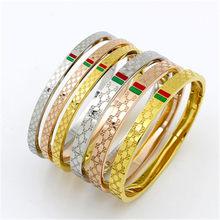 ded23f5bebb8 Marca de lujo joyas de Zirconia pulsera de cristal brazalete fino pulseras  y brazaletes para mujeres pulseras modernas B0011
