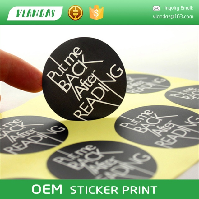 Bgj ja014 custom printing sticker label printing logo printing sticker strong adhesive