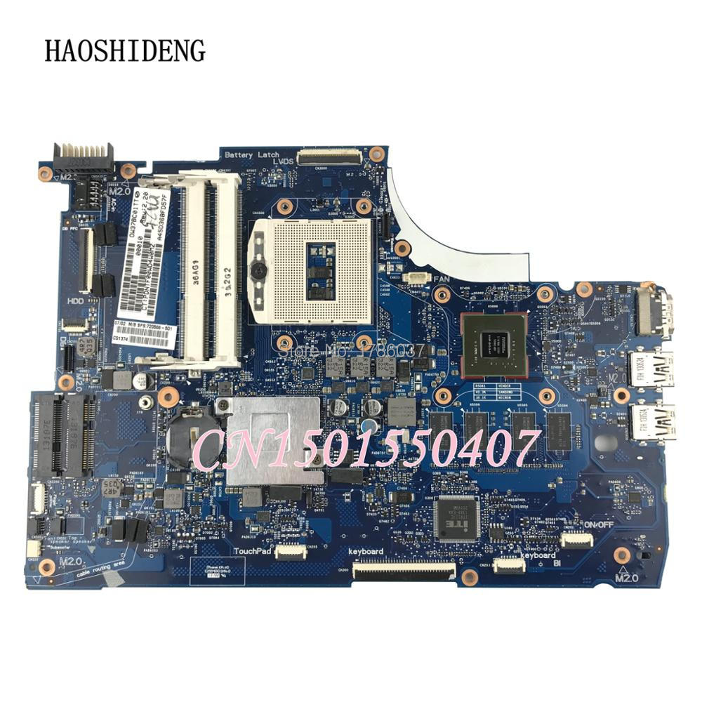 HAOSHIDENG 720566-501 720566-001 for HP ENVY 15-J 15T-J series motherboard 740M/2G HM87.All functions 100% fully Tested !