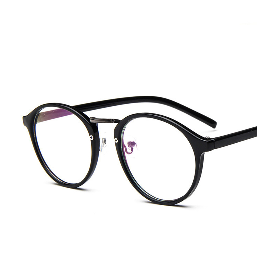 2019 Unisex Retro Optical Lens Nerd Glasses Mens Womens Clear Lenses Myopia Eyeglasses Frames Trend Round Spectacles Newest in Men 39 s Eyewear Frames from Apparel Accessories
