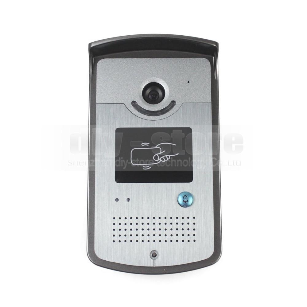 DIYSECUR 7 inch TFT Color LCD Display Video Door Phone Visual Intercom Doorbell Reader RFID LED Night Vision Camera Wholesale