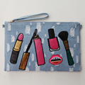 Beauticians Cosmetics Vanity BagCheap Small Makeup Envelope Clutch Bag Pouch Necessaries Para mulheres maquiagem cosmetic Bag
