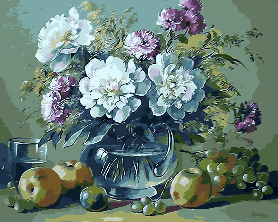 Vaso di fiori pittura acquista a poco prezzo vaso di fiori for Fiori dipinti a olio