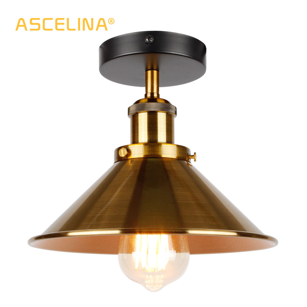 Industrial Ceiling Light Vintage Ceiling Lamp Retro Loft Ceiling Lighting American Country Light Fixtures Free Shipping