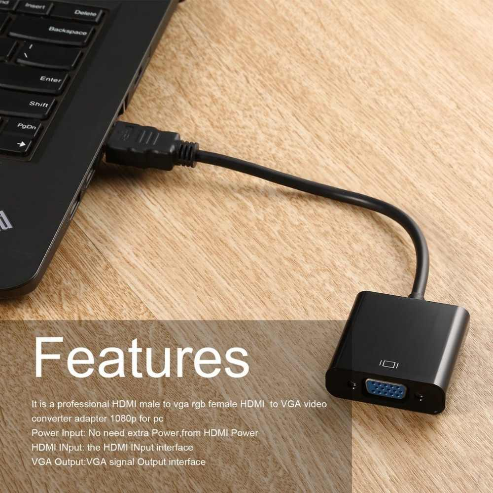 HDMI to VGA Adapter Digital to Analog Audio Video Cable Converter HDMI VGA  Connector for PS4 PC Laptop Chromebook TV Box