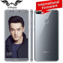 "Huawei Honor 9 lite 4 ГБ 64 ГБ мобильный телефон 5.65 ""18:9 полный Экран 2160*1080 P Octa core Dual шрифт сзади Камера 3000 мАч отпечатков пальцев"