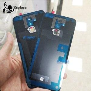 """Image 3 - Oryginalny 6.3 """"dla Huawei Mate 20 lite Mate 20 lite wymiana szklana tylna obudowa baterii obudowa baterii tylna pokrywa 3 kolory"""