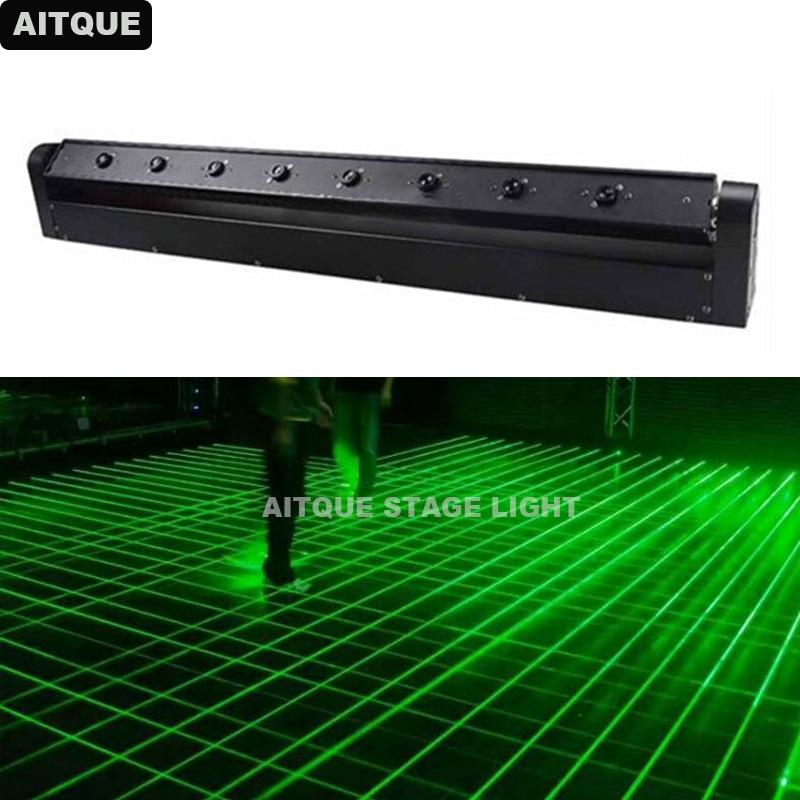 10 шт. DJ 8 головок диско РГБ движущаяся головка лазерный свет движущийся луч лазерный бар зеленые лазерные огни