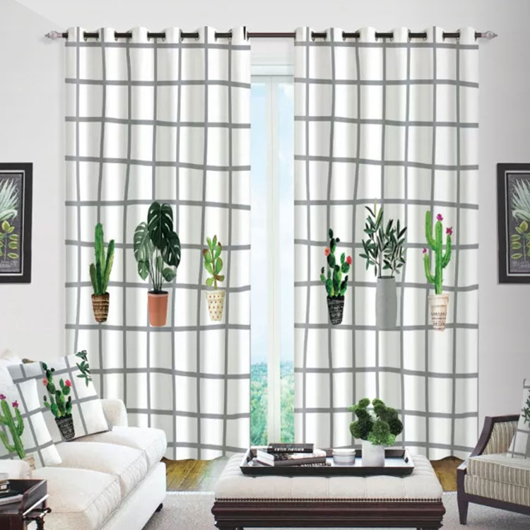 Window 3D Potted plant Curtain Living Room Modern Home Goods Window Treatments Polyester Printed 3d Curtains For BedroomWindow 3D Potted plant Curtain Living Room Modern Home Goods Window Treatments Polyester Printed 3d Curtains For Bedroom