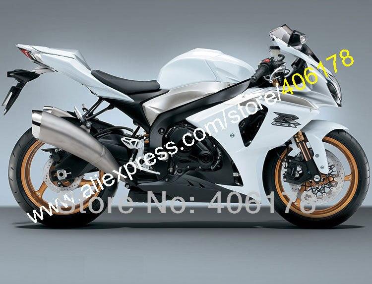 Hot Sales,For Suzuki k9 GSX-R1000 09-14 GSXR1000 GSX R1000 2009 2010 2011 2012 2013 2014 white Fairing Kit (Injection molding)