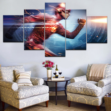 Modern Oil Painting Canvas HD Printed Wall Art Frame Modular Pictures Living Room Decoration 5 Panels Movie Flash Poster Artwork