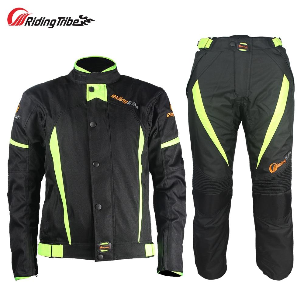 Езда племя мотоциклетные зимняя теплая куртка брюки костюм ветрозащитный мотокроссу Броня защитный мотоциклист Костюмы JK-37