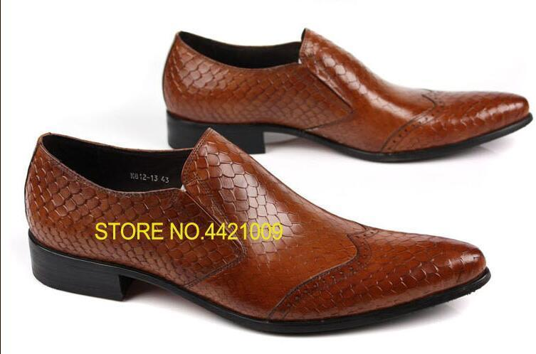 Fish Scale Man Brown Black Wedding Dress Oxfords Shoes 2018 Men Business Pointed Toe Formal Oxfords Shoes Genuine Leather Mujers new 2018 fashion men dress shoes black cow leather pointed toe male oxfords business shoes lace up men formal shoes yj b0034
