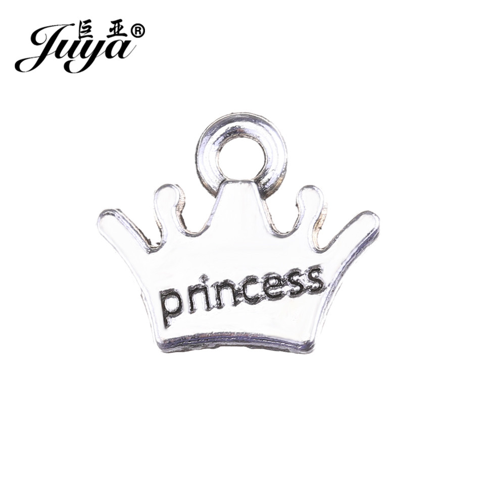 Jewelry Sets & More Intelligent Juya 25pcs/lot 11x13mm Alloy Charms Pendant Princess Crown Shape Jewelry For Nacklace Pendant Bracelet Making Finding Ao0632 Less Expensive