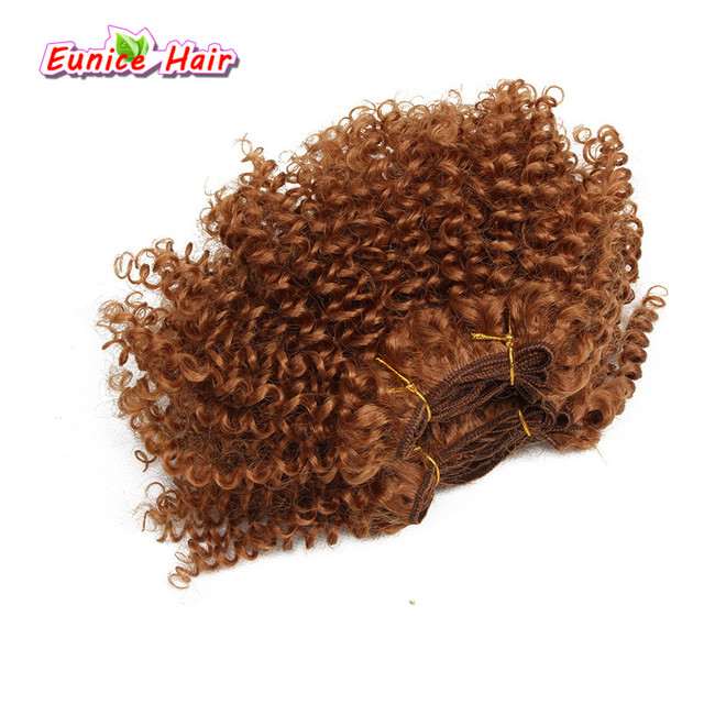 8inch 2pcslot Afro Kinky Curly Hair Weft Cheap Synthetic Hair