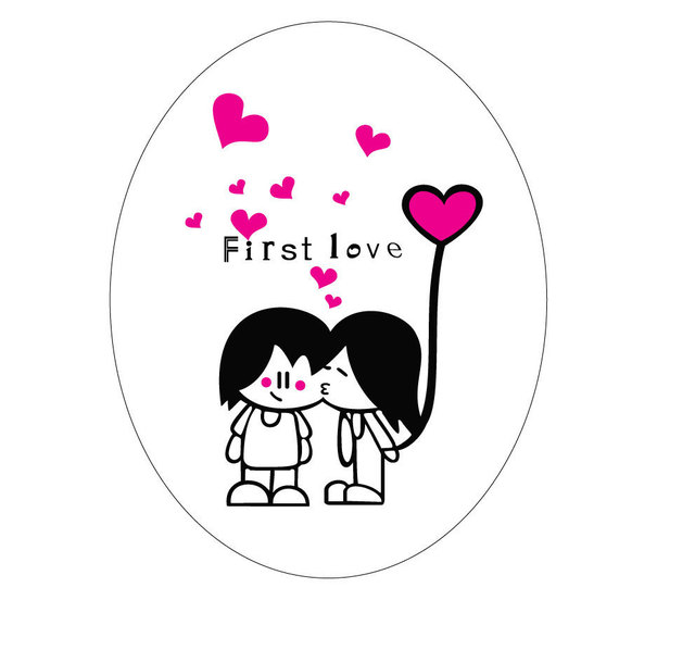 Kiss love wall sticker fashion cute toilet sticker removable pvc scrubs transparent decorative stickers toilet paste