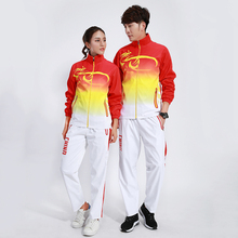 Adsmoney Badminton Tracksuits Waterproof Running Sets Men/Women Gym China Game Team Sportwear Sport Training Jogging Suits