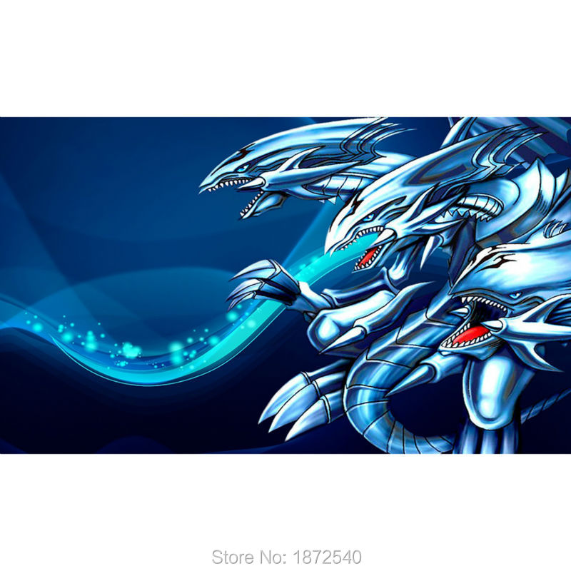 Board Games YUGIOH Cards Playmat, ICE DRAGONS Playmat, Board Games table playmat, YU-GI-OH Playmats Cards 63X40CM