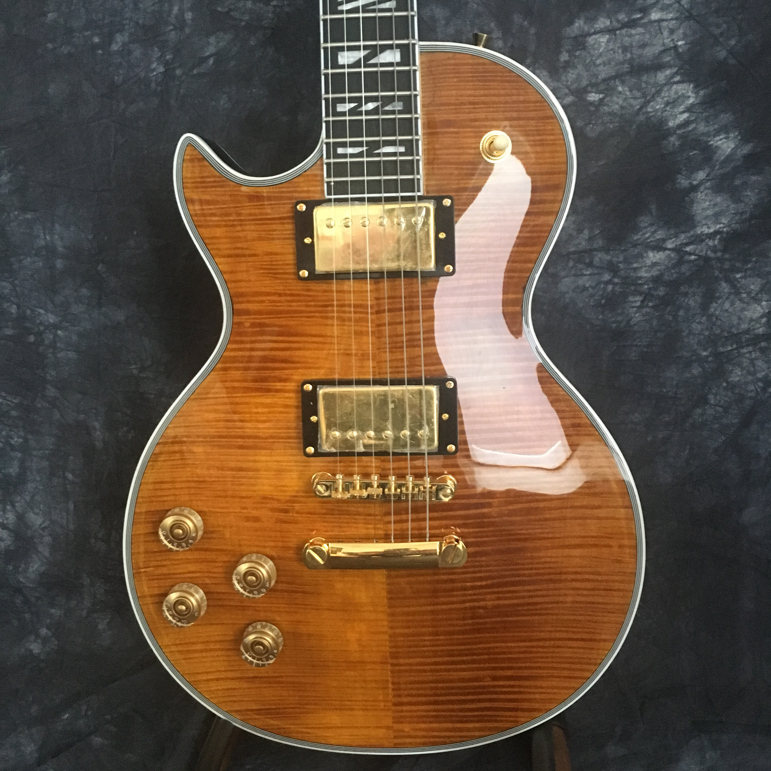 2019  standard electric guitar LP left hand guitar good sound quality free shipping(China)
