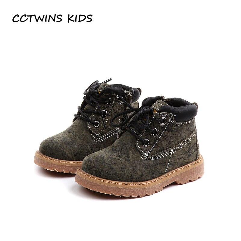 6bf6fd24bd36d CCTWINS ENFANTS 2018 Automne Bébé Garçon De Mode Martin Boot Enfants  Véritable Chaussures En Cuir En Bas Âge Marque Cheville Boot Fille BM007  dans Bottes de ...