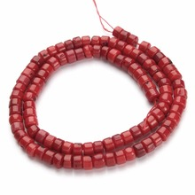 1Strand/lot Red Coral Natural Stone Beads Jewelry 4x5mm Seed Loose Spacer for DIY Fashion Making Findings