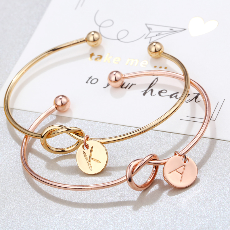 2020 Letter Bracelet Jewelry for Party Metal Charm Bracelet Gift for Friend Women's Heart Pendant Bracelets for Women