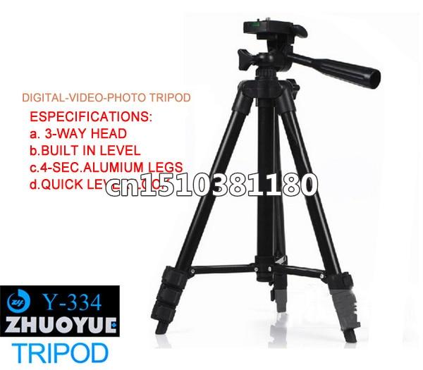 Y-334 PRO Compact Tripod 3 Way Pan Head W Bubble Level For Canon Nikon Sony camera