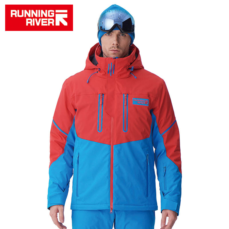 RUNNING RIVER Brand Men High Quality Ski Jacket Winter Warm Hooded Sports Jackets For Man Professional Outdoor Jacket #A7025