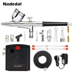 Nasedal Airbrush Compressor Spray-Gun Dual-Action Cake/car-Painting with