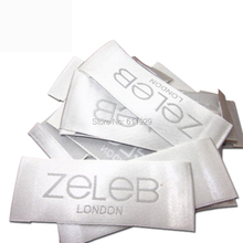custom clothing satin woven labels/garment embroidered labels/logo/wedding dress labels/overcoat tgs 1000 pcs a lot