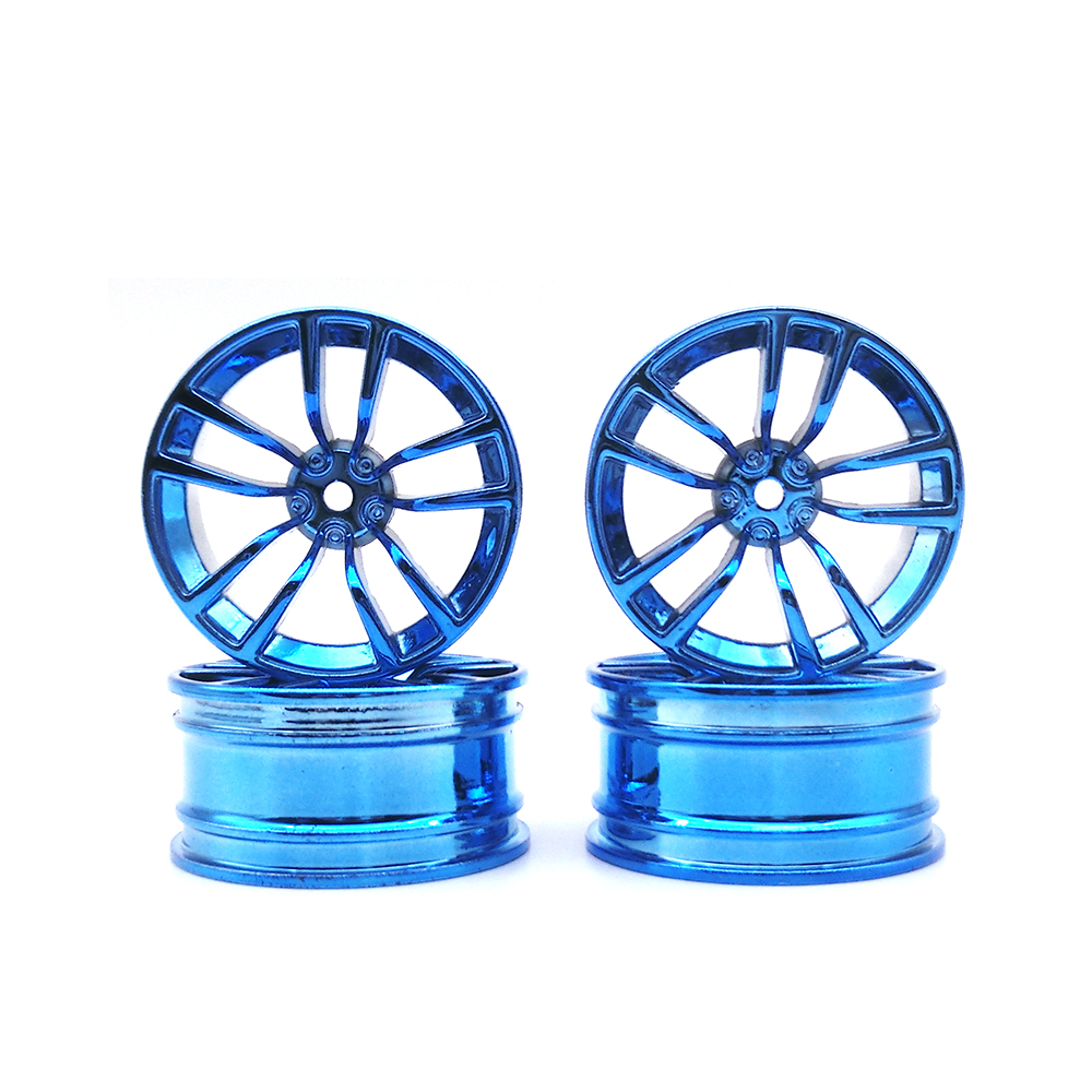 4Pcs Aluminum Alloy 52*26mm Tire Hub Wheel Rim for 1/10 RC On Road Run-flat Car HSP HPI Traxxas Tamiya Kyosho 1:10 Spare Parts aluminum 6 spoke wheel rim for 1 10 rc on road racing car