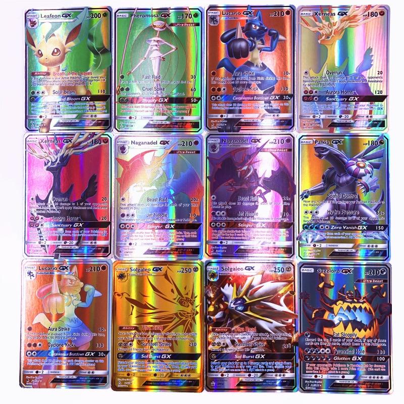 200 Pcs GX 25 50 100pcs MEGA Shining Cards Game Battle Carte Trading Cards Game Children Pokemons Toy(China)
