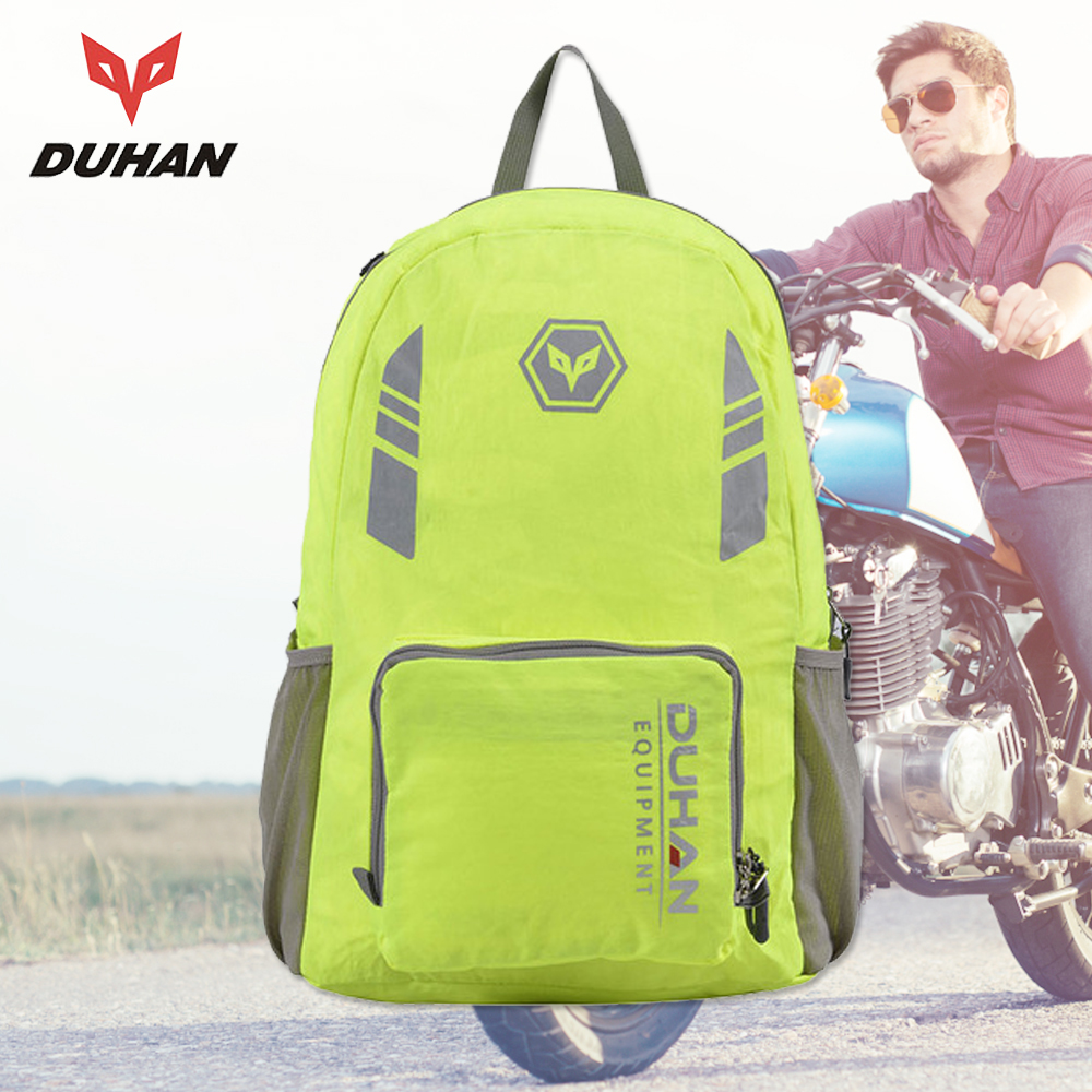 DUHAN Motorcycle Bag Motorcycle Helmet Bag Moto Bag Reflective Leisure Travel Backpack Men Women Foldable