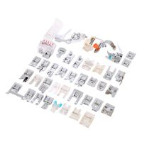 New arrived High Quality 42pcs Domestic Sewing Machine Presser Foot Feet Kit Set With Box For Brother Singer