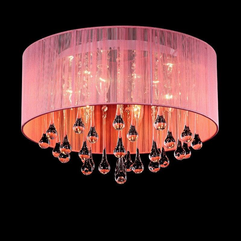 Gauze Crystal Ceiling Lights Fashion Living Room Bedroom Luxury ...