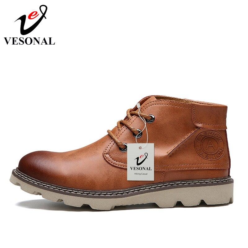 Vintage Calçado brown Andando Black Nova Ankle Para Boots De Boots Botas Adulto Outono Sapatos Trabalho Do Homens Casuais 2018 Negócios Masculinos Moda Vesonal 46awq
