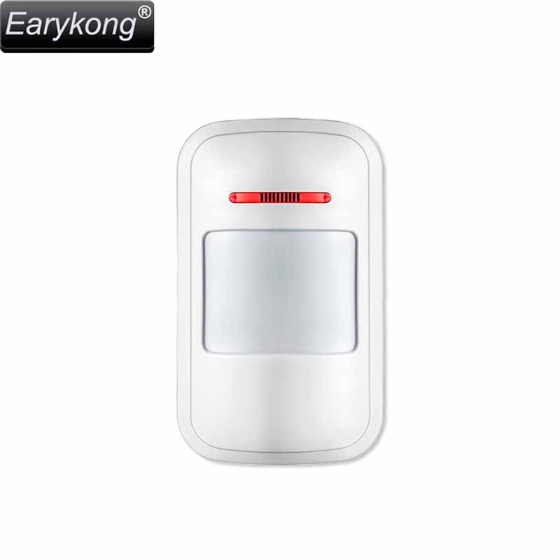 433MHz Wireless Passive Infrared Detector PIR Motion Sensor, For Alarm Systems Security Home Burglar, Free Shipping, Earykong . free shipping energy saving auto wireless pir motion sensor passive infrared motion detector 2pcs pir 100b