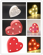 Romantic Fashion Marquee Light Love Heart Led Night Light Valentine Couple Birthday Gift Wedding Party Holiday Cafe Home Decor
