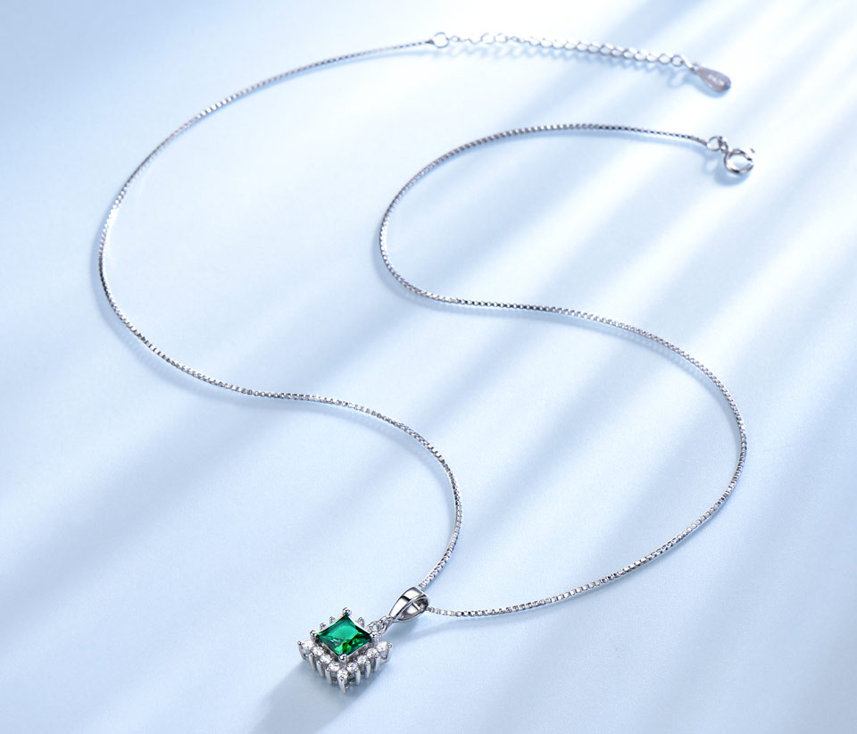 UMCHO Emerald 925 sterling silver jewelry set for women S019E-1 (4)