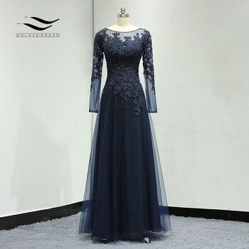 1d1f1b77045 Длиной в Пол  с вышивкой бисером кружево Иллюзия длинное вечернее платье  свадебное платье шифон элегантный выстроились мать невесты платье.