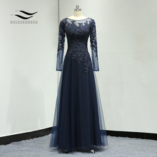 Floor Length Beading Lace Illusion Formal Wedding Gown Chiffon Elegant Lined Mother Of the Bride Dress