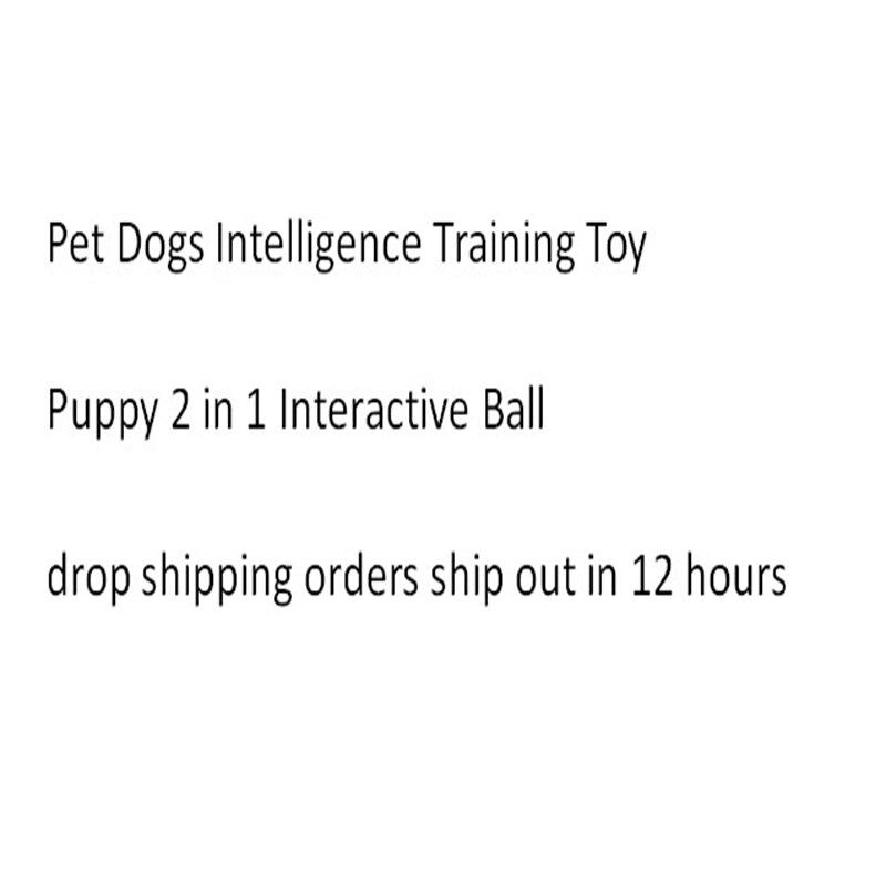 Chien de compagnie Intelligence formation jouet chiot 2 en 1 interactif balle jouets traite récompenses Pet balle jouets pour chiot