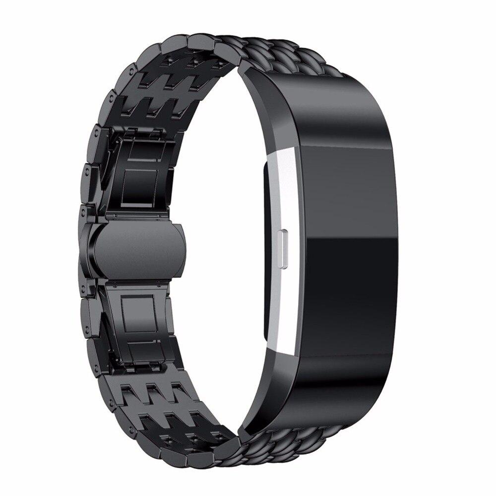 imágenes para Deporte de la muñeca de acero inoxidable reloj correa de la banda para carga 2 bandas de reemplazo fitbit fitbit smart watch starp