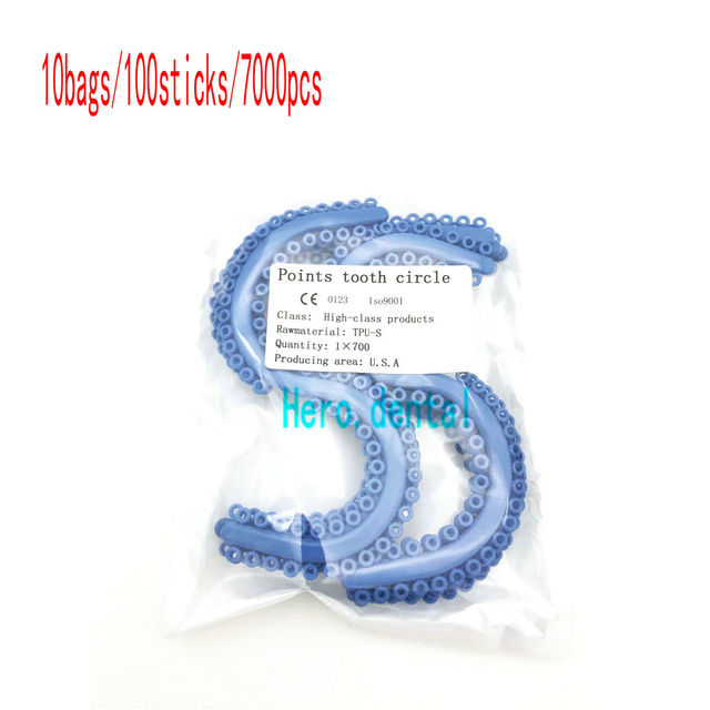 10X Dental Orthodontic Separate Tie S-type Elasitc Power Chain 700pcs/Bag