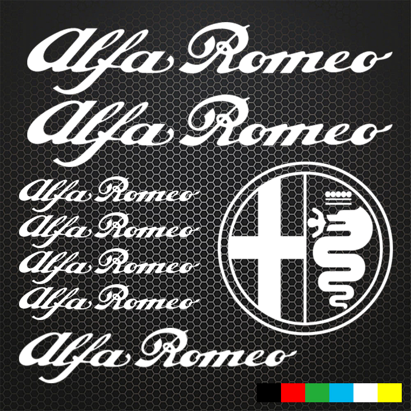 Honest Automobile,8pcs For Alfa Romeo Hi Temp Cast Vinyl Stickers Car Styling Sticker Automobiles & Motorcycles