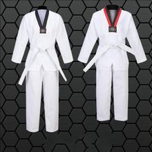 Women Men Child Adult Karate Uniform Suit Taekwondo  Boxing Training Clothes Red Black or Black V-Neck Cotton F fm трансмиттер avs f 472 black red a07156s